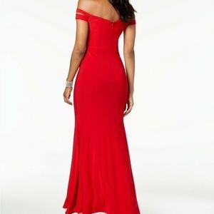 Xscape Dresses - XSCAPE NEW Double-Strap Off-the-Shoulder Jersey Sh